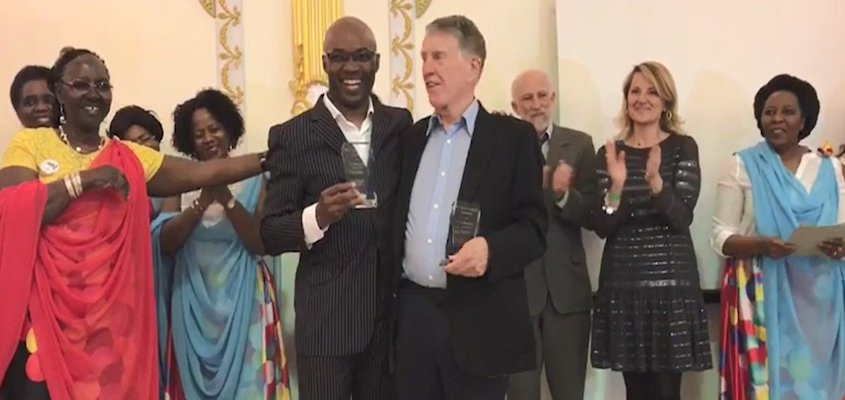 Victoire Ingabire Umuhoza Democracy and Peace Prize Awarded to Charles Onana and Phil Taylor