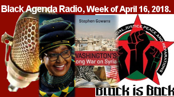 "Black Agenda Radio for Week of April 16, 2018 Confront the Black Misleader Class at the Polls Black radical candidates must always ""keep politics in command,"" when challenging the misleadership class for the hearts and minds of the Black community. That was one of the themes of the Black Is Back Coalition's Electoral School, convened in St. Louis, Missouri, last week. Listen to nine speakers address the broadest range of issues -- always with the focus on Black self-determination. Winnie Mandela the Tallest"