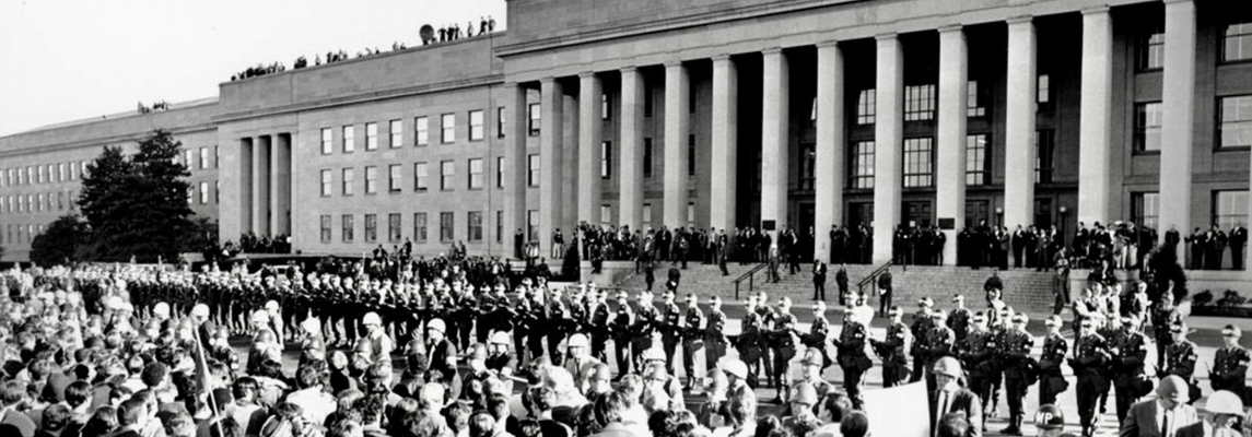 marching on the pentagon back in 67
