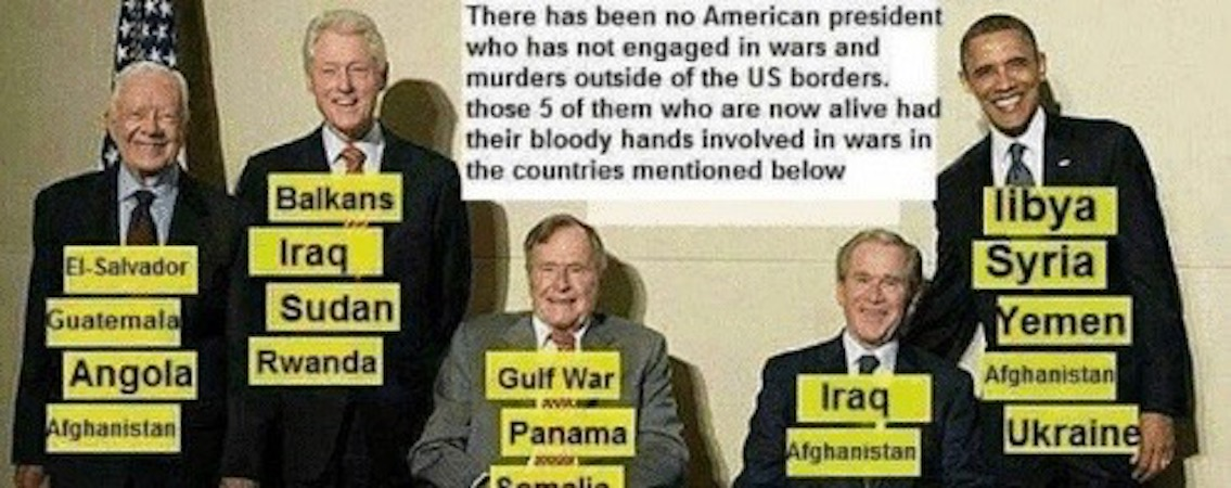 All US Presidents, Living and Dead, are War Criminals