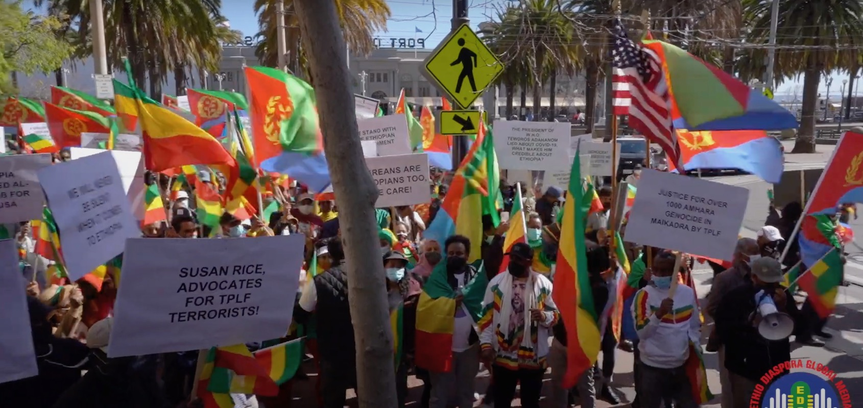 Ethiopians and Eritreans Rally for National Sovereignty, Against US Intervention