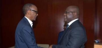 Paul Kagame and His House Negro, Félix Tshisekedi -- Photo: DR Congo Félix Tshisekedi